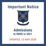 Admissions to RBHS in 2021